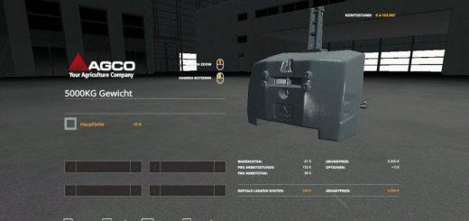 Agco Weight 5000kg v 1.0