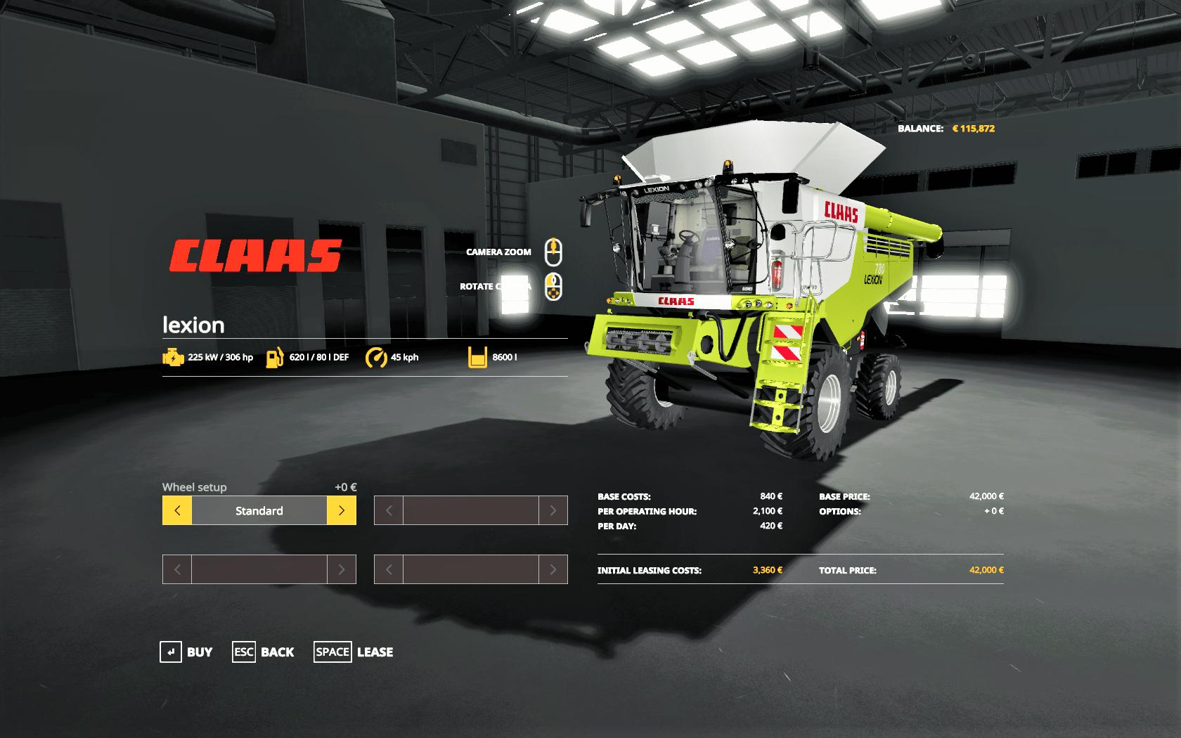 Claas Lexion 780 Combine v 1.0