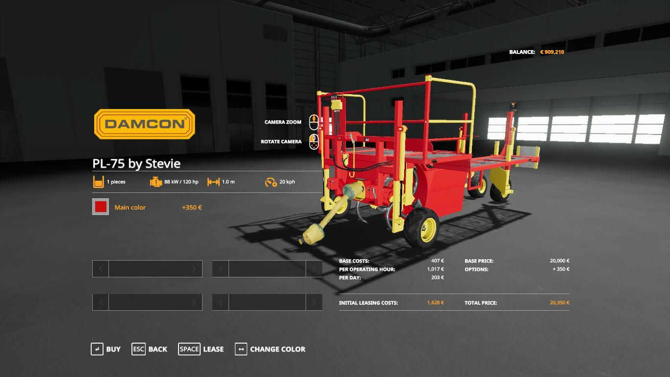 Damcon PL-75 planter + 60 tree saplings pallets v1.0