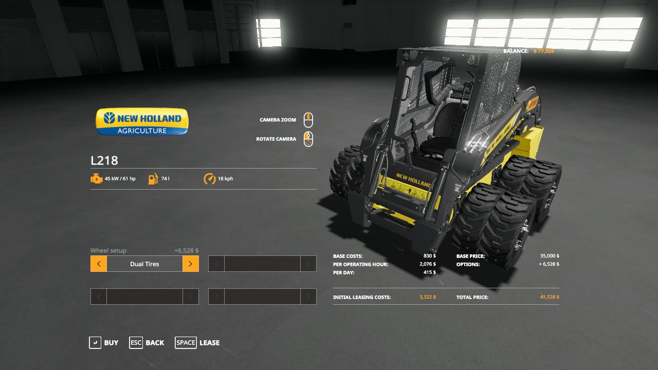 Duallies for L218 SkidLoader v 1.0