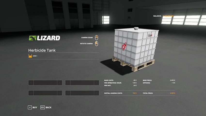 Herbicide Tank v 1.0