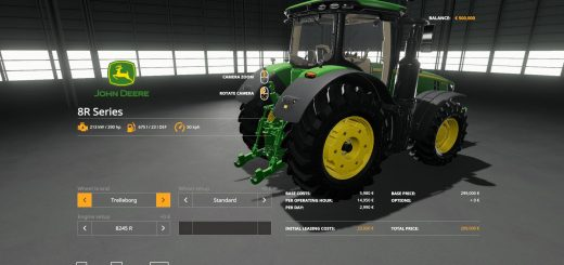 John Deere 8R with SeatCam v 1.0