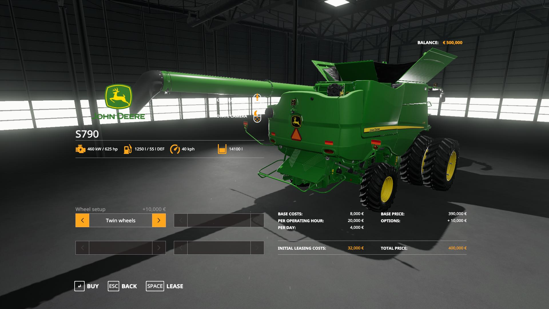 John Deere S790 with SeatCam v 1.0
