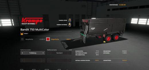 Krampe Bandit 750 - MultiColor 100000 liters v 1.0