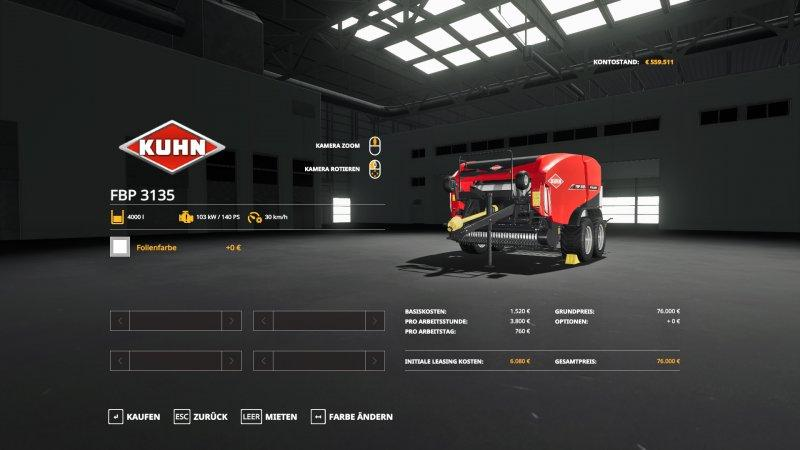 Kuhn FBP 3135 Speed v 1.0