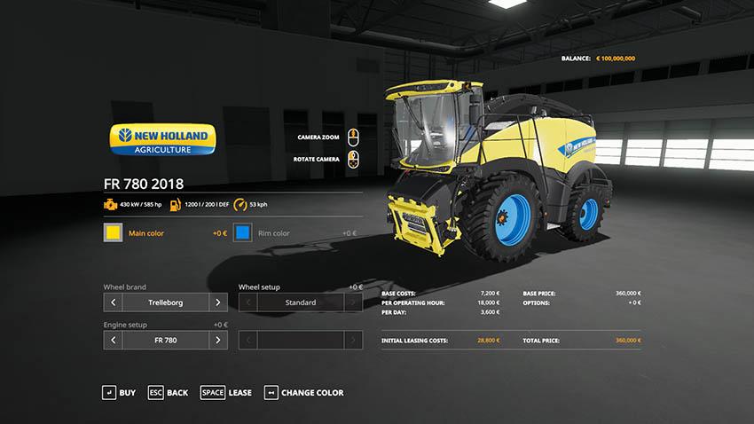 NH FR 780 model 2018 v 1.0.1
