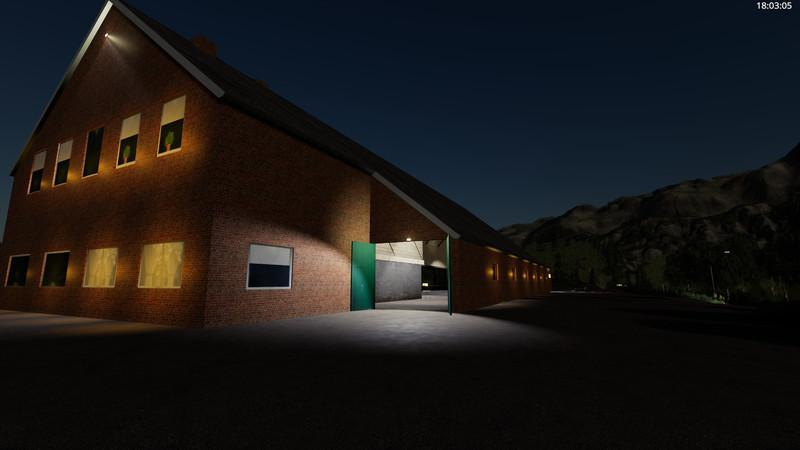 Yard with cowshed and willow beta