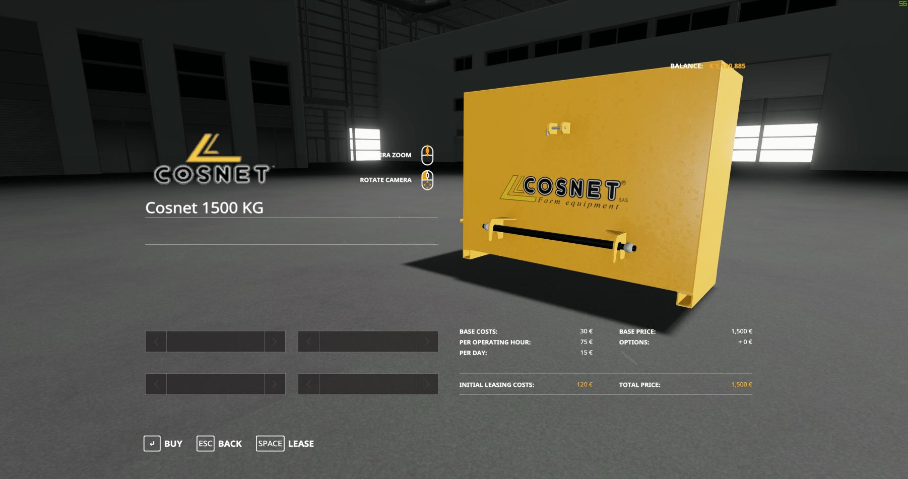 Cosnet Weight v 1.0