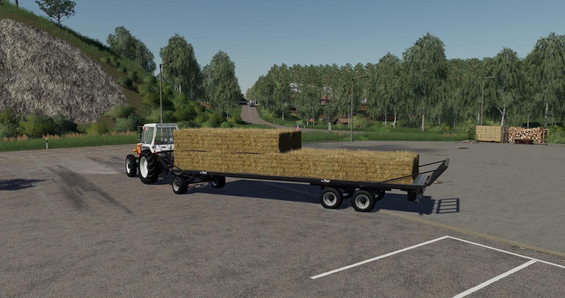 Fliegl DPW 180 Squarebale Autoload v 1 0 | FS19 mods