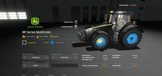 John Deere 8R - MultiColor v 1.0