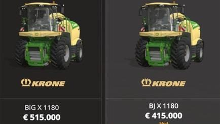 Krone X1180 BJ with tank 50.000L v 1.0