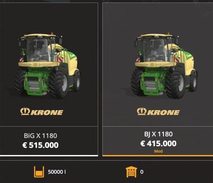 Krone X1180 BJ with tank 50.000L v 1.0