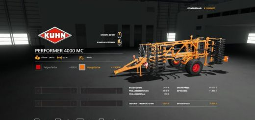 Kuhn Performer 4000 - MultiColor v 1.0