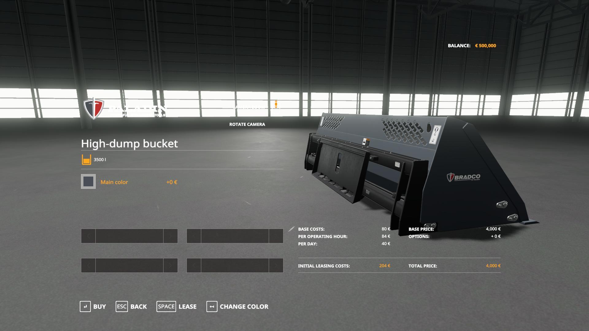 Paladin High Dump Bucket v 1.0