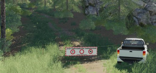 Placeable forest barrier banners v 1.0