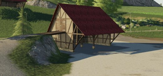 Placeable half-timbered barn v 1.0