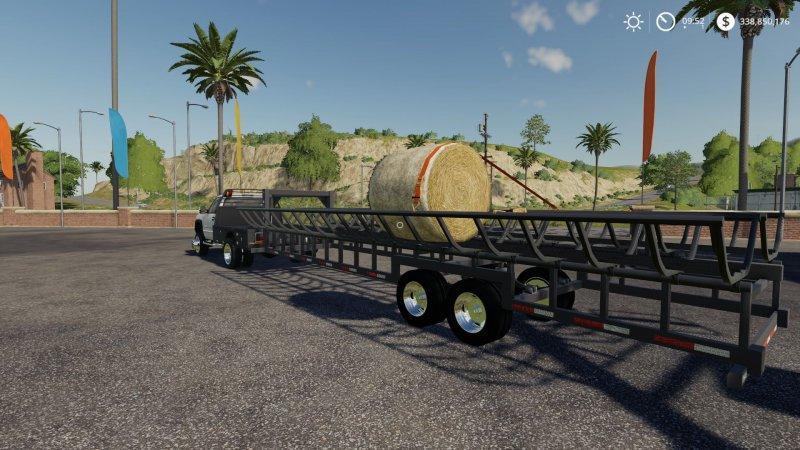 Prarie Bale Trailer v 1 0 | FS19 mods, Farming simulator 19 mods