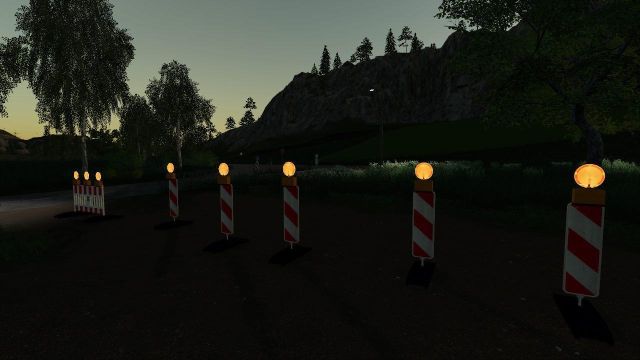 Strassen Sperre (Nachts Beleuchtet) v 1.0