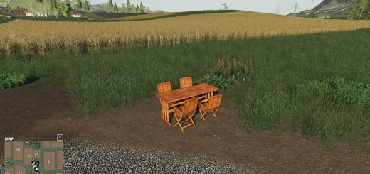 Wooden table with chairs to place v 1.0