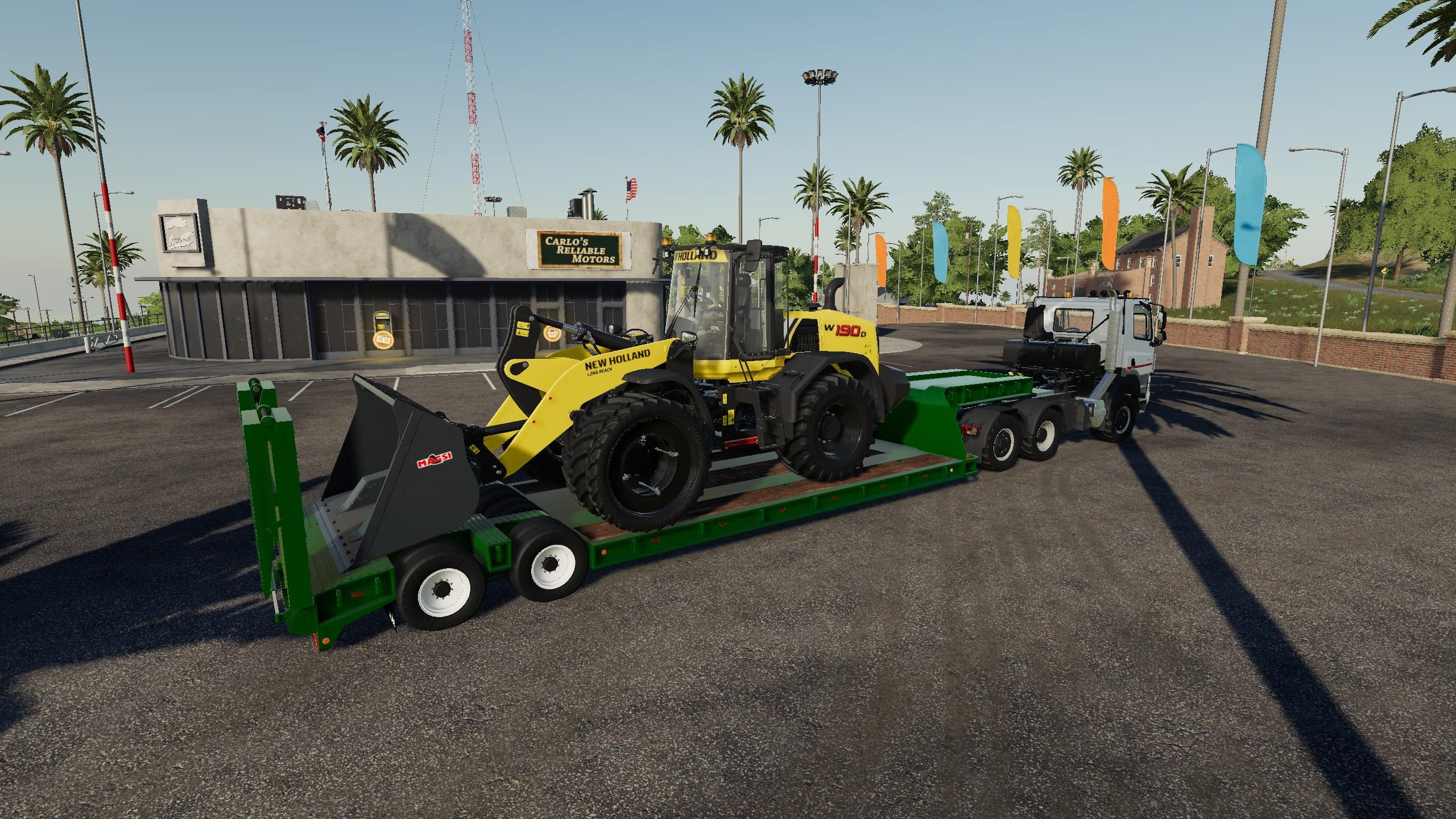 16 wheels Low deck Trailer v 1.0