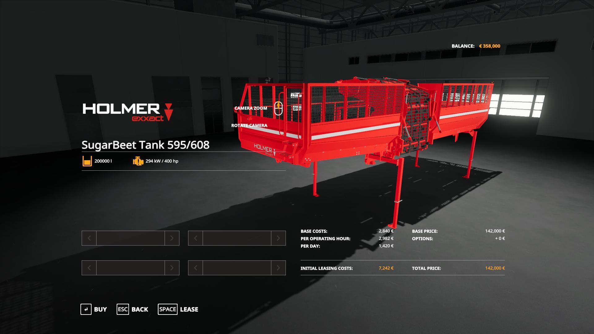 Homer SugarBeet Tank 595 v 1.0