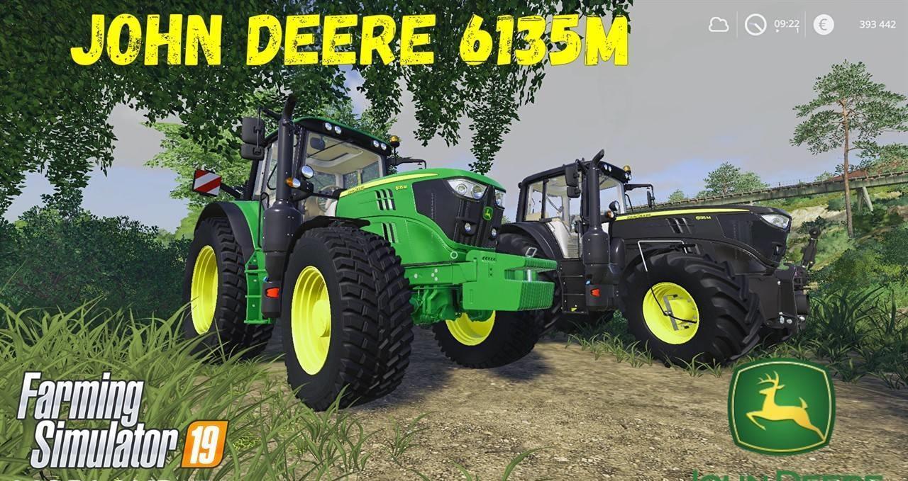John Deere 6135M and Black Beauty v 1.1