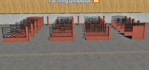 PLACEABLE Fences and Post Pack 2 v 1.0
