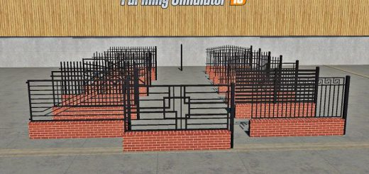 PLACEABLE Fences and Post Pack v 1.0