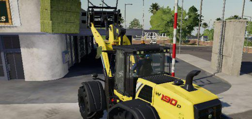 Wheel Loader Bale Fork v 1.0