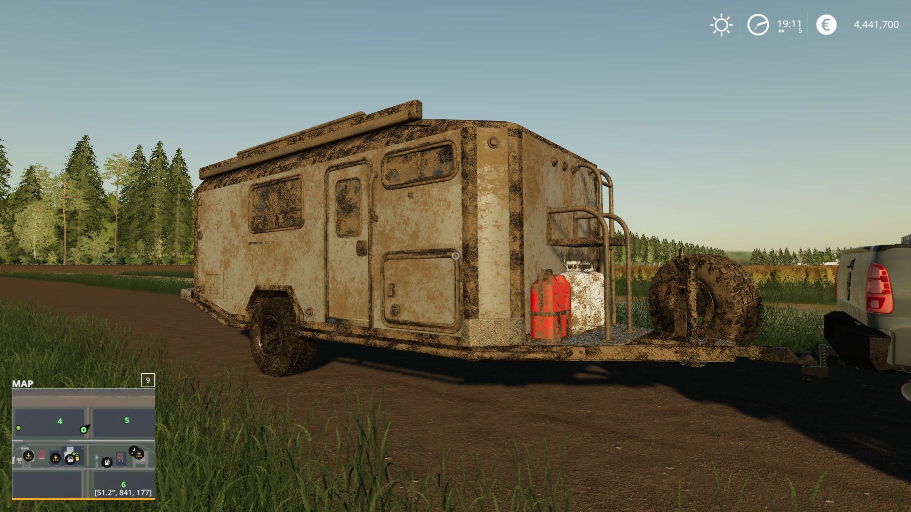 Adak Off Road Camper v 1 0 | FS19 mods, Farming simulator 19