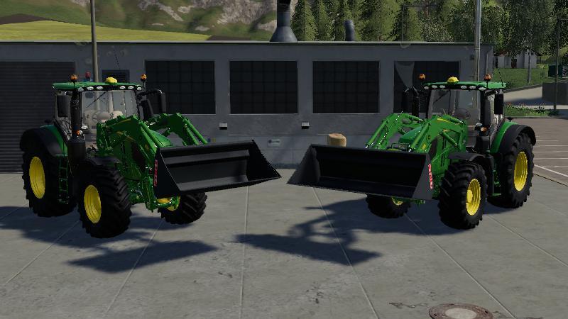 Bigger front loader shovels v 1.0
