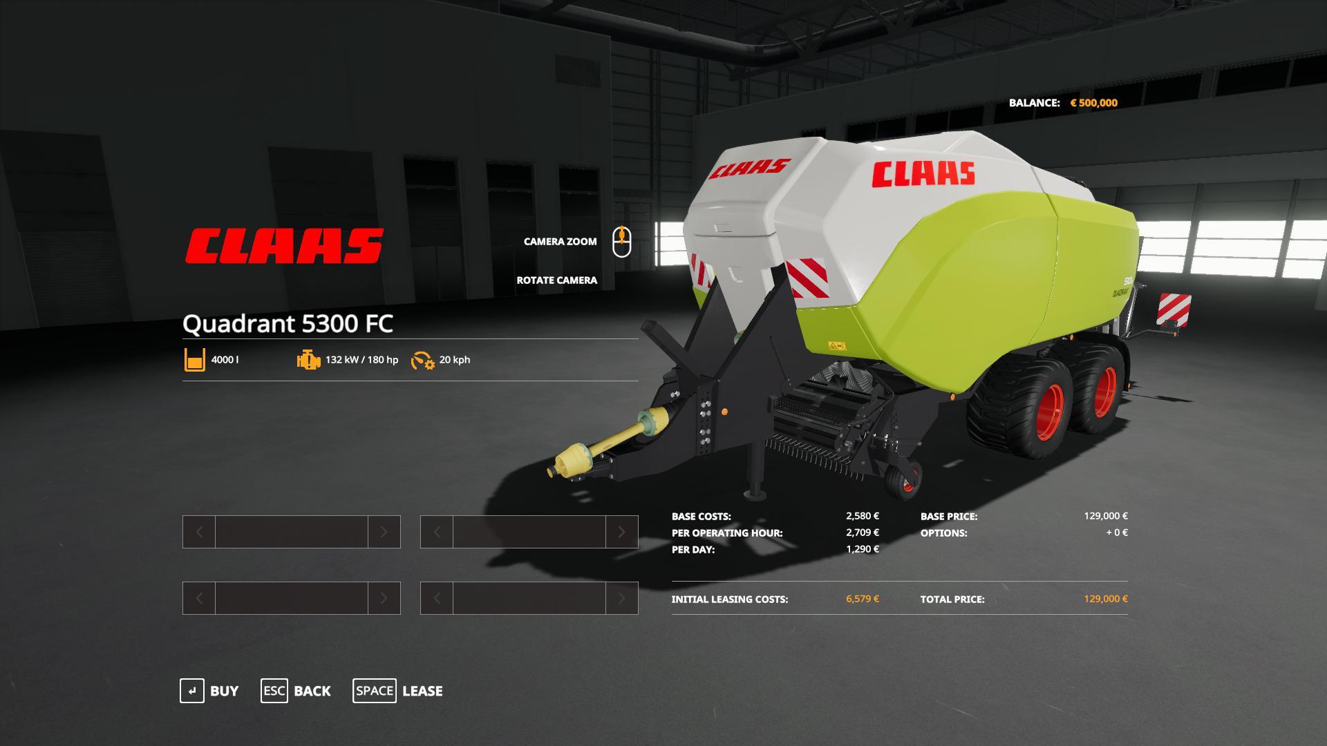 Claas Quadrant 5300 FC v 1.1