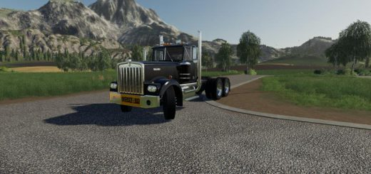 Kenworth W900A With Oversize load banner v 1.0