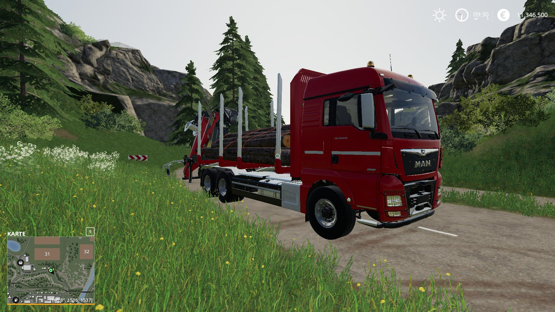 MAN Forst LKW with Autoload Wood v 2.0