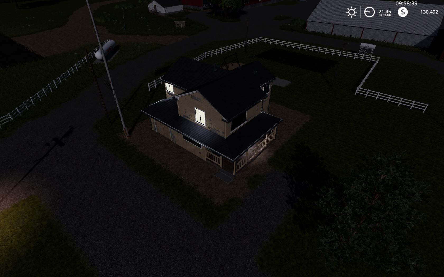 Placeable 4 bedroom house with sleep trigger v 1.0