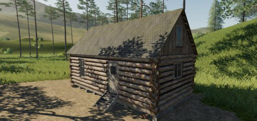 Placeable Log Cabin with sleep trigger v 1.0