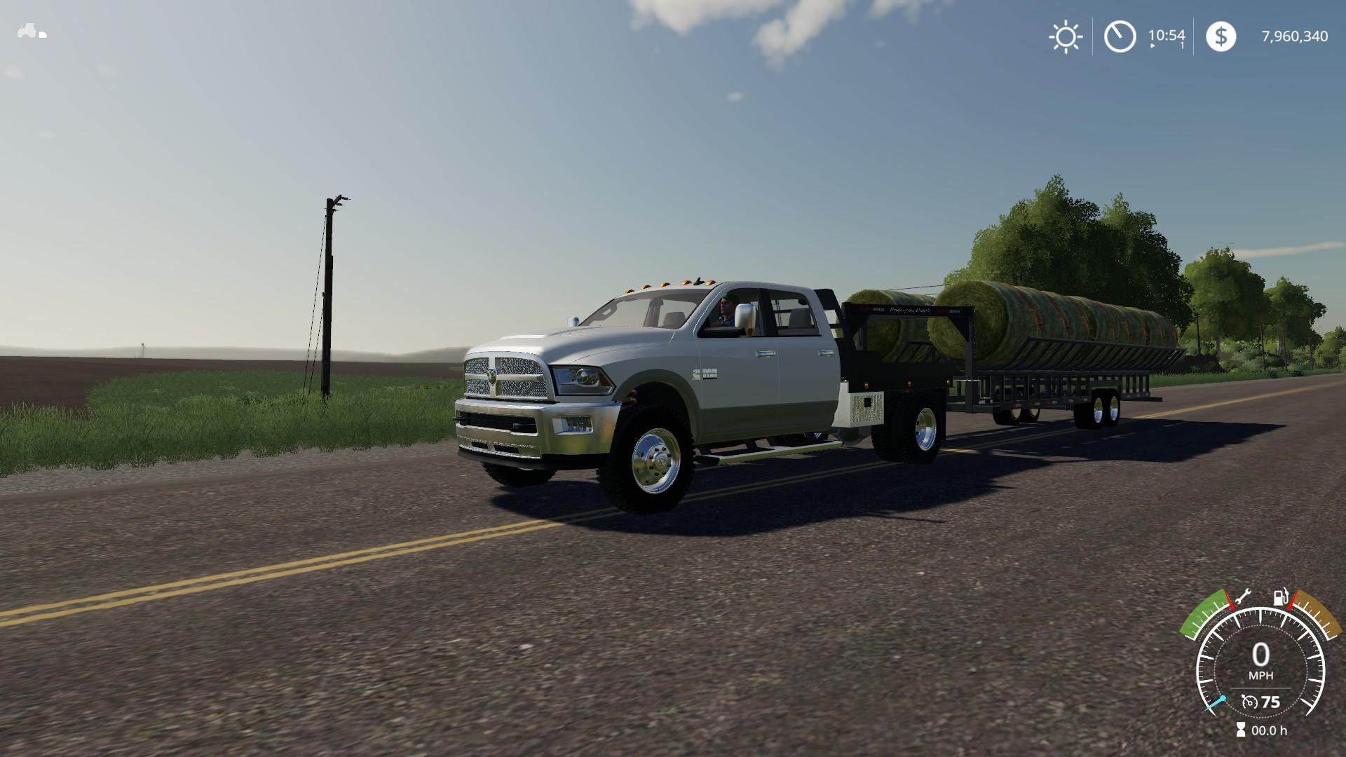 Prairie Bale Trailer v 1 0   FS19 mods, Farming simulator 19 mods