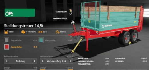 Manure spreader set 14t v 1.0
