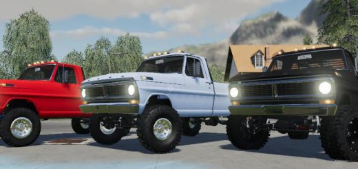 1970 FORD F250 with colision on flatbed v 1.1