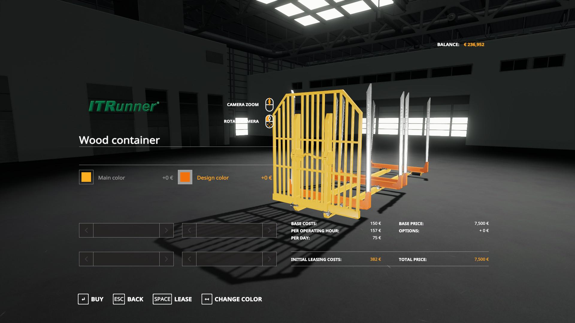 Adjustable hooklift Wood Container v 1.0
