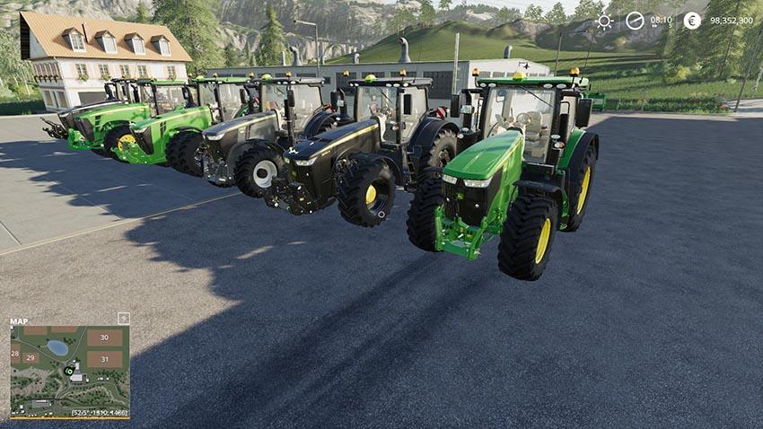 Best Pack of John Deere Tractors v 1.0