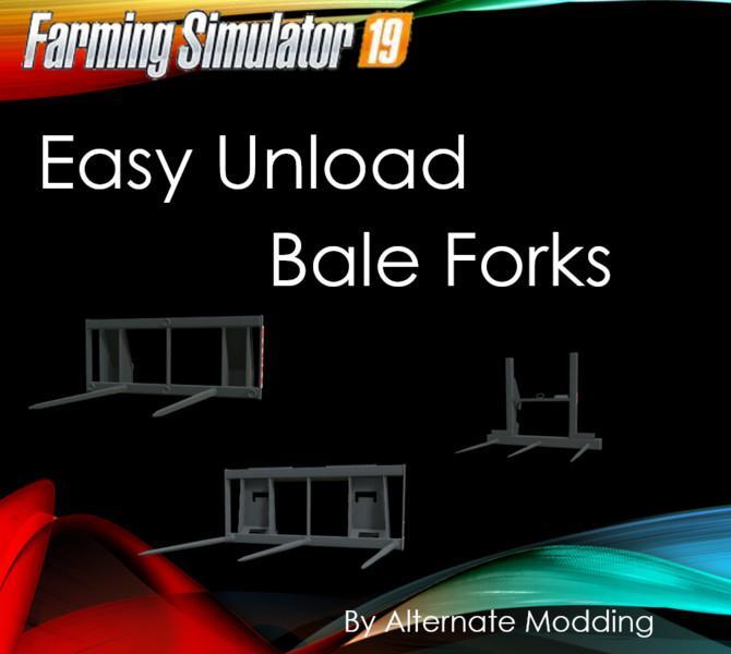 Easy Unload Bale Forks v 1.0