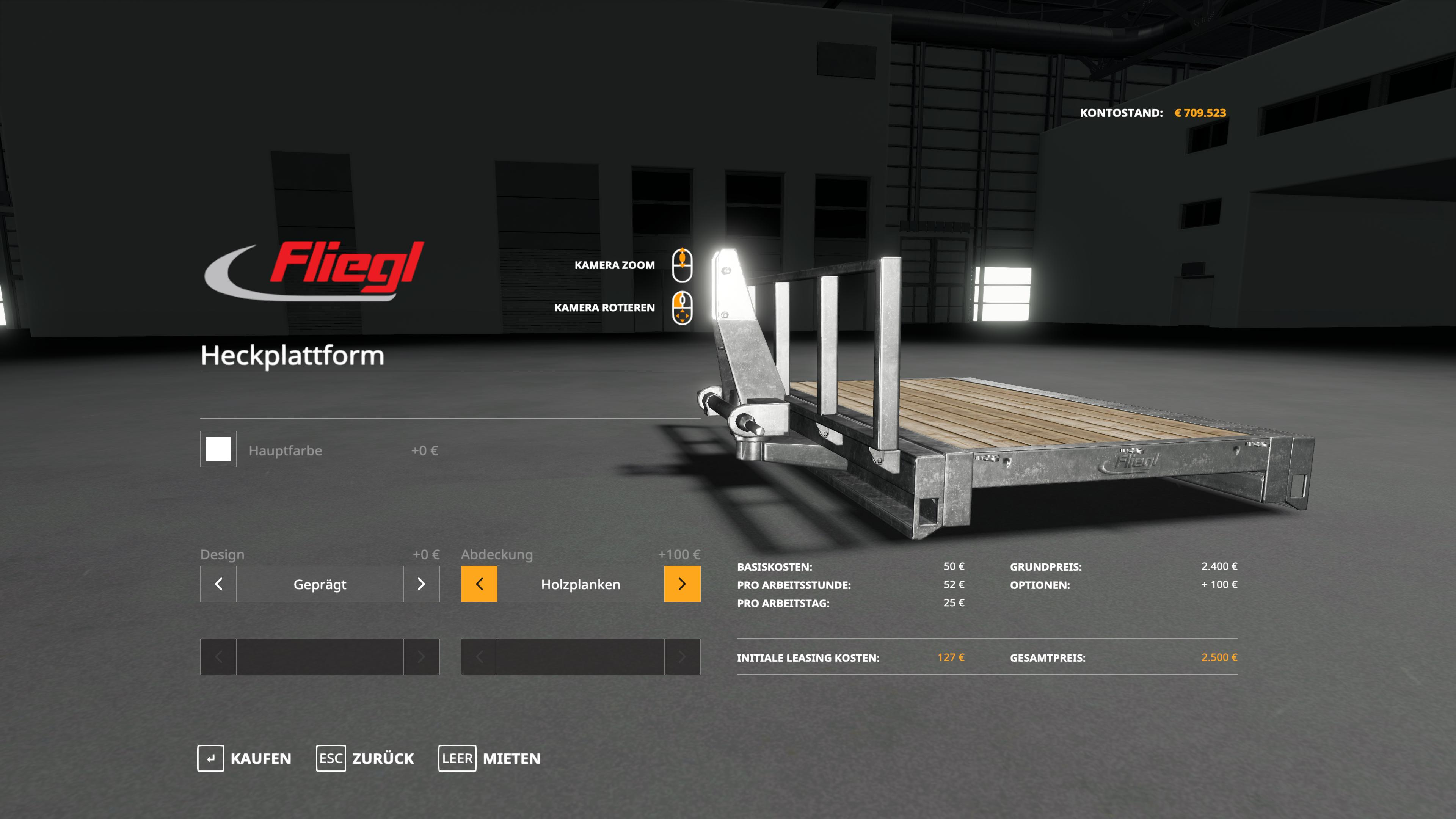 Fliegl Heck platform v 1.0