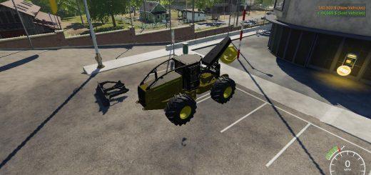 John Deere construction yellow skidder v 1.0