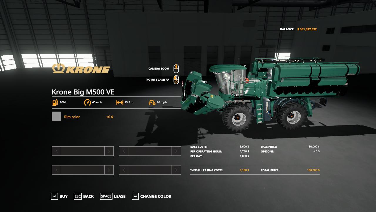 Krone BiG M500 Mower v 1.0