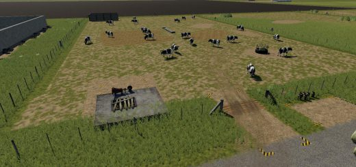 Placeable open range cow pasture v 1.0