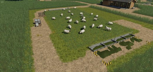 Placeable open range sheep pasture v 1.0