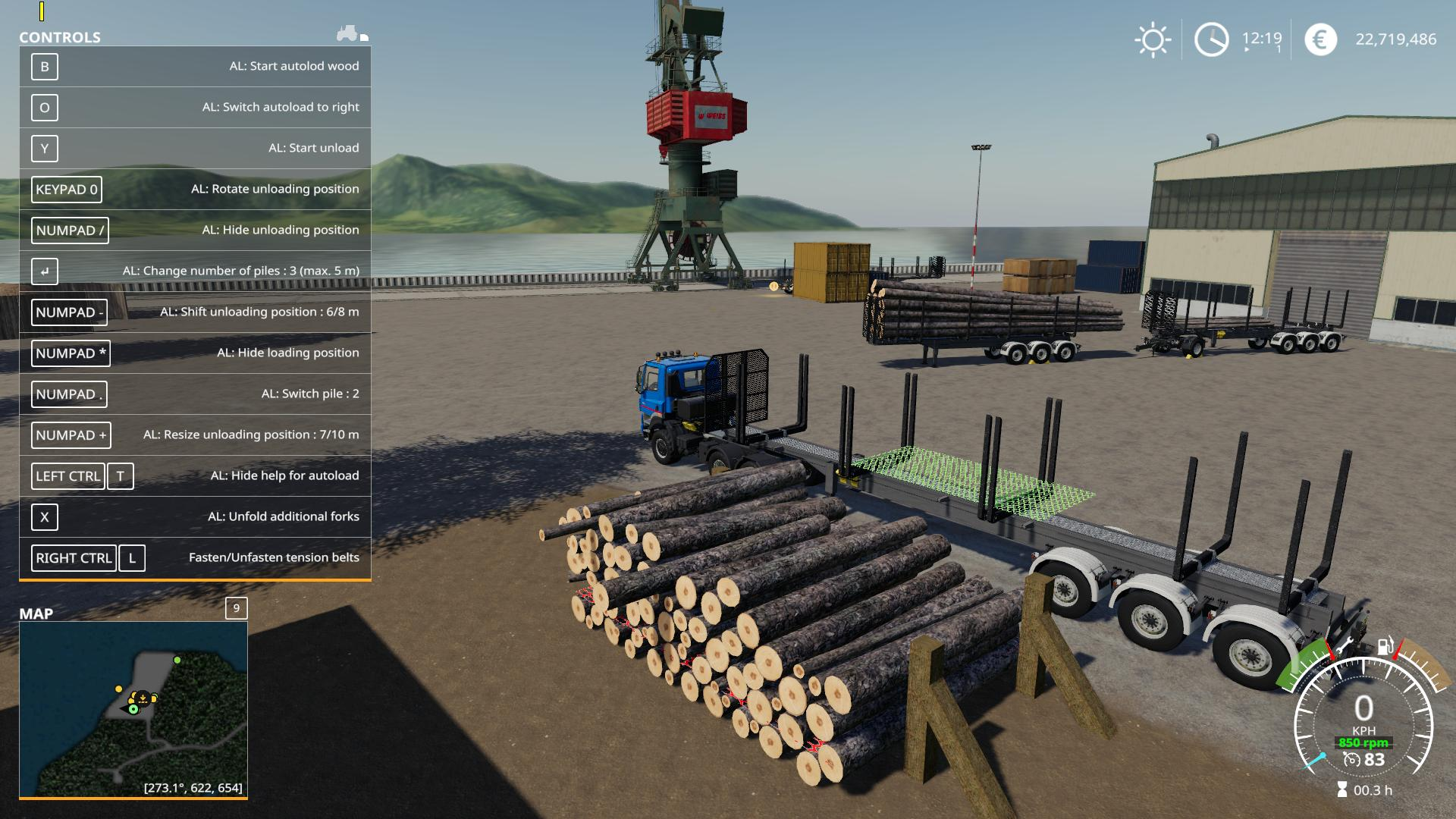 Timber Runner Wide With Autoload Wood v 1 2 | FS19 mods