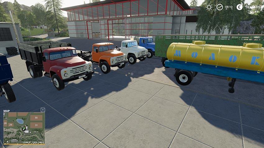 ZiL Pack v 1.0 | FS19 mods, Farming simulator 19 mods Map Usa Zil on