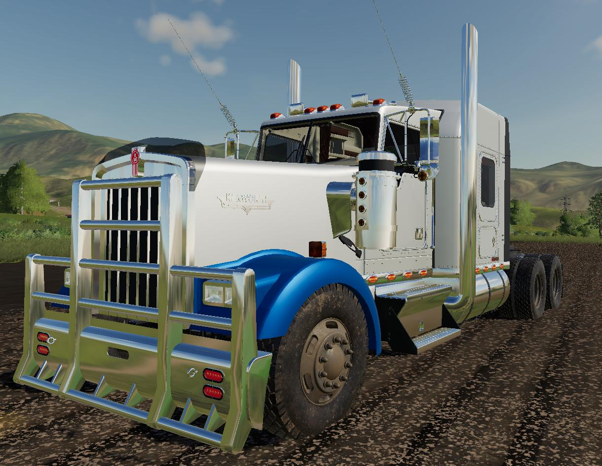 Kenworth W900 v 1 0 0 2 | FS19 mods, Farming simulator 19 mods